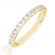 18ct Gold .33ct Diamond French Pave Eternity Ring