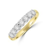 18ct Gold 7-stone .45ct Diamond Loopy Eternity Ring