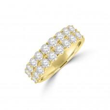 18ct Gold Double Row 1.61ct Diamond Eternity Ring