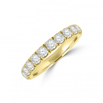 18ct Gold 1.10ct Diamond French Pave Eternity Ring