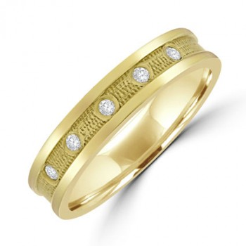 18ct Gold 5-stone Diamond Wedding Ring