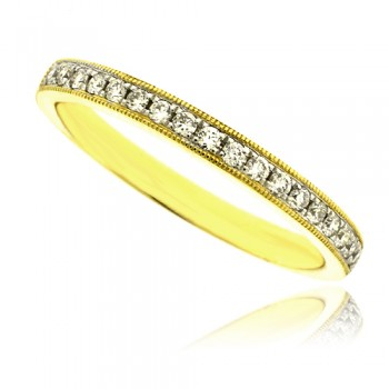 18ct Gold Micro Claw Set Diamond Wedding Ring