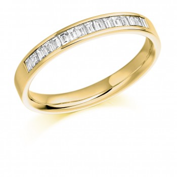 18ct Gold Baguette Diamond Wedding Ring