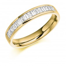 18ct Gold Baguette Diamond Wedding Ring
