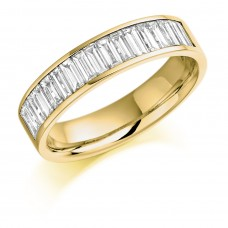18ct Gold Baguette Diamond Channel Eternity Ring