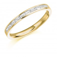 18ct Gold Baguette cut Diamond Wedding Ring