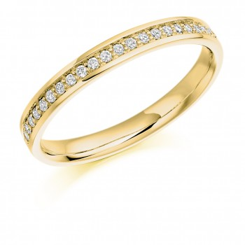 18ct Gold Grain set Diamond Wedding Ring