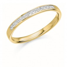 18ct Gold Princess cut Diamond Wedding Ring