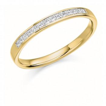 18ct Gold Princess cut Diamond Wedding Ring