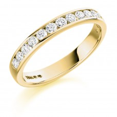 18ct Gold 12-stone Diamond Wedding Ring