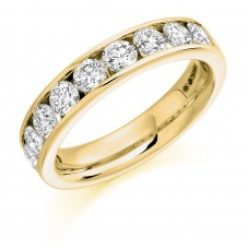 18ct Gold 9-stone Diamond Eternity Ring