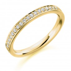 18ct Gold Grain set Diamond Wedding Ring