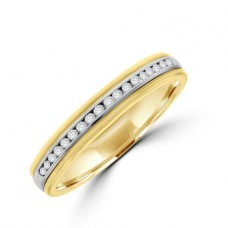 18ct Gold Two-Tone Diamond Wedding Ring