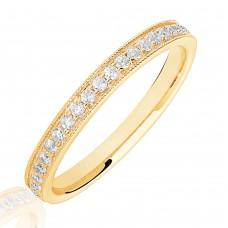 18ct Gold .20ct Diamond Micro claw set Wedding Ring