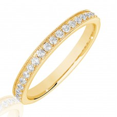 18ct Gold .25ct Diamond Micro Claw Set Wedding Ring