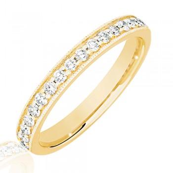 18ct Gold .33ct Diamond Micro Claw Set Wedding Ring