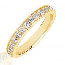 18ct Gold .50ct Diamond Micro Claw Set Wedding Ring