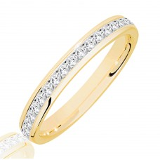 18ct Gold .50ct Princess cut Diamond Wedding Ring