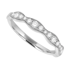 18ct White Gold Diamond Wave Eternity Ring