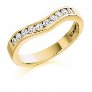 18ct Gold Diamond Bow Shaped Wedding Ring