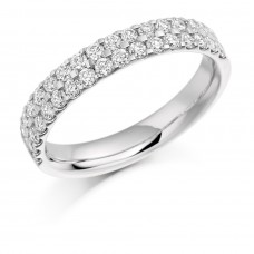 18ct White Gold Double Row Diamond Eternity Ring