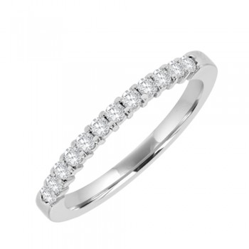 18ct White 12st Diamond Eternity Ring