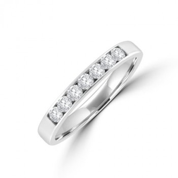 18ct White Gold 7-stone Diamond Channel set Eternity Ring