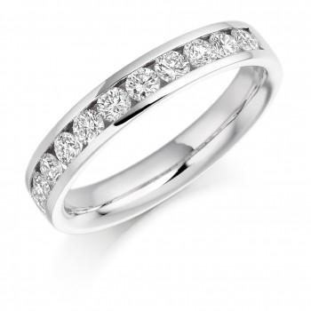 18ct White Gold 11-stone Diamond Wedding Ring