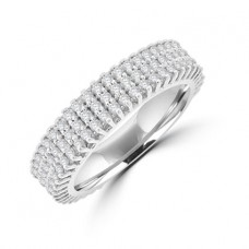 18ct White Gold 3-row Diamond Eternity Ring