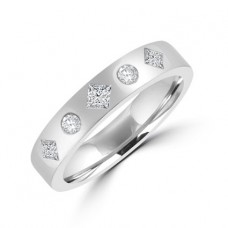 18ct White Gold 5-stone Diamond Wedding Ring