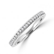 18ct White Gold Micro claw set Diamond Wedding ring