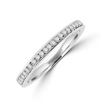 18ct White Gold Micro claw set Diamond Wedding ring