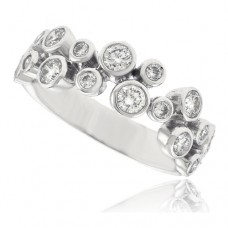 18ct White Gold Two-Row Diamond Scatterset Eternity Ring
