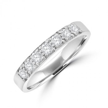 18ct White Gold 7-stone Diamond Eternity Ring