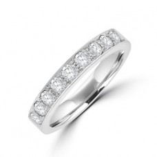18ct White Gold 9-stone Diamond Eternity Ring