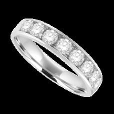 18ct White Gold 9-stone Diamond Wedding Ring