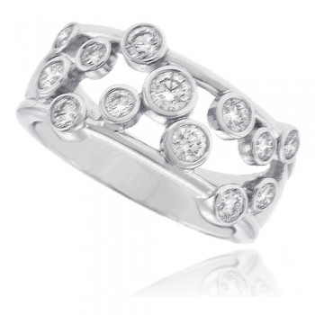 18ct White Gold 13-stone Diamond Scatterset Eternity Ring