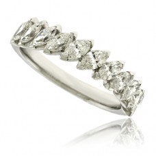 18ct White Gold Marquise Diamond Eternity Ring 1.11ct