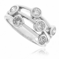 18ct White Gold Diamond Scatterset Eternity Ring