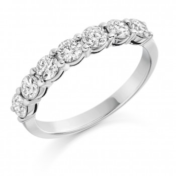 18ct White Gold Seven-stone Diamond Eternity Ring