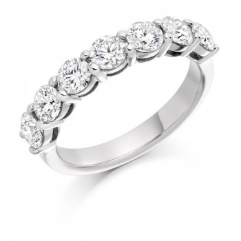 18ct White Gold Seven-stone Diamond Eternity Ring