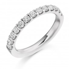 18ct White Gold Diamond Micro Claw set Eternity Ring
