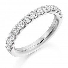 18ct White Gold 1.00ct Diamond Micro claw set Eternity Ring