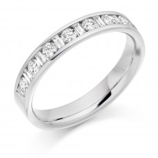 18ct White Gold Baguette & Brilliant cut Diamond Eternity Ring