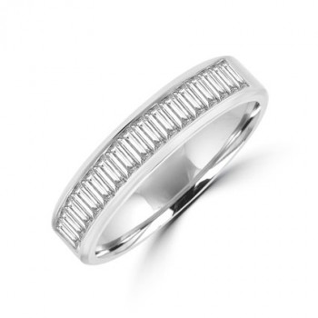 18ct White Gold Baguette Diamond Eternity Ring