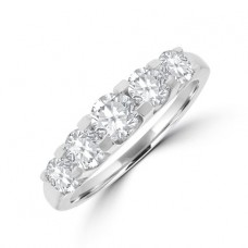 18ct White Gold 5-stone Diamond Eternity Ring