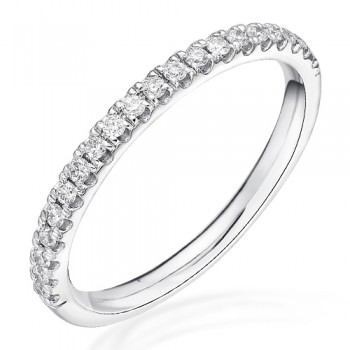 18ct White Gold Castle set  Diamond Eternity / Wedding Ring