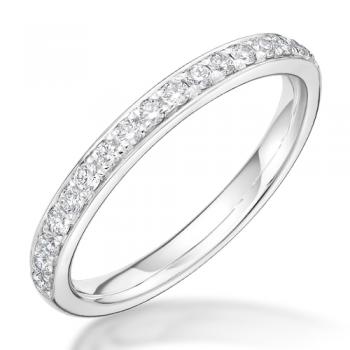 18ct White Gold .28ct Diamond Grain set Eternity / Wedding Ring