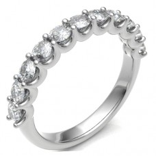 18ct White Gold Loopy 1.02ct Diamond Eternity Ring