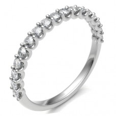 18ct White Gold .43ct Diamond Shared Loopy Claw Eternity Ring